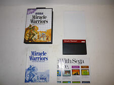 Sega Master System Miracle Warriors This Game Is Really Compete In Box