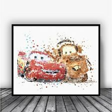 Disney Cars Lightning Mcqueen and Mater Disney Pixar Cars Poster Disney Nursery
