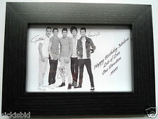 ONE DIRECTION PERSONALISED PICTURE & FRAME - GREAT BIRTHDAY PRESENT GIFT IDEA