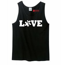 Love Autism Mens Tank Top Autism Awareness Autistic Child Dad Brother Tank Z3