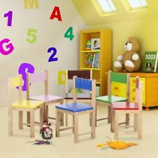 Wood Child Kids Chair Stool Or Table Set Stacking School Activity Furniture X6N1