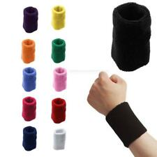 Unisex Comfort Cotton Sweatband Sports Wrist Band Tennis Yoga Sweat WristBand