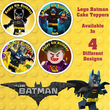 Lego Batman Cake Cupcake Toppers Luxury Icing Wafer Paper Any NAME & TEXT