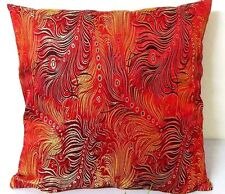 Sofa CUSHION COVER Chinese Brocade Pillow Case Dancing Peacock Feather cbs-65