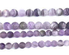 Natural Amethyst Beads Matte Beads Loose Gemstone Beads Round 6mm 8mm 10mm 12mm