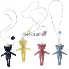 Princenss Girls Lovely Cute 3D Bear Toys with Crown Pendant Necklace Rope Chain