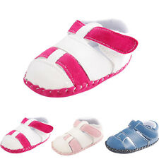 Toddler Girls Boys Crib Shoes Splicing Soft Sole Anti-Slip Baby Sneakers Sandals