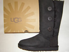 UGG Australia Bailey Button Triplet Tall Boots Black Women's Size 5 -10 NEW !!