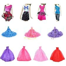 Unique Barbie Doll Fashion Handmade Clothes Dress Different Style For DH