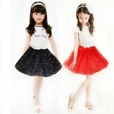 Princess Dressup Bling Sequin Tulle Tutu Skirt Party Costume Ballet Dancewears