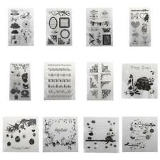 Vary Types Silicone Rubber Clear Stamp Seal Scrapbooking Diary Card Making Craft