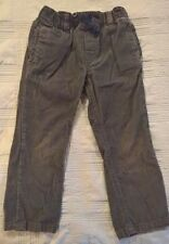 Carters Boys Gray Corduroy Pants Pull-Up/Elastic Waistband (Size 4T)