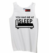 You Had Me At Sleep Funny Mens Tank Top College Valentines Day Gift Sleeveles Z3
