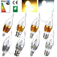 E14 E27 Dimmable 3W 6W 9W Sharp Flame LED Chandelier Candle Light Bulb Lamp NEW