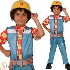 Boys Bob The Builder Costume TV Cartoon Childs Kids Book Day Fancy Dress Outfit