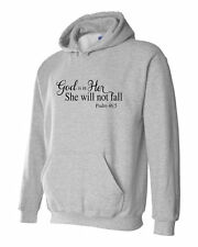 God is in Her she will not fall Psalm 46:5 Scripture Hoodie S M L Xl 2Xl 3Xl