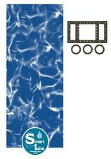 Above Ground 25 Gauge Round Sunlight Swimming Pool Overlap Liners w/ Gasket Kit