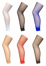 Sock Snob - Womens Colorful Fishnet Footless Tights with Lace Bottom / 10 Colors
