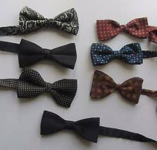 vintage bow ties butterfly adjustable black blue red pre tied