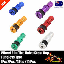 RACING FORGED ALUMINUM VALVE STEM WITH CAPS TUBELESS TYRE WHEELS RIMS UNIVERSAL