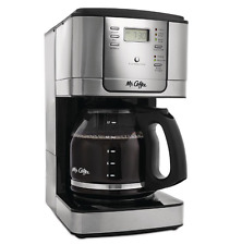 Mr. Coffee 12 Cup Brew Programmable Coffee Maker, Stainless Steel, Red or Black