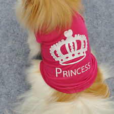 Crown Princess Summer Dog T-shirt Small Dog Puppy Clothes For Girls