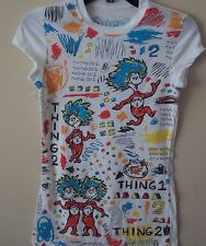 Dr. Seuss New (Thing 1 Thing 2) Licensed T-shirt
