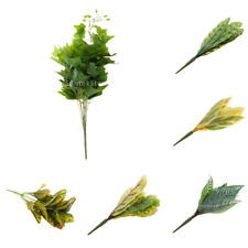 Artificial Leaves Plastic Leaf Plants Silk Foliage Grass Garden Decor 6 Types