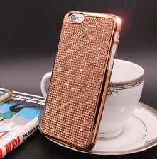 Bling Swarovski Element Crystal RoseGold Soft case For iphone 6 Plus {pN632