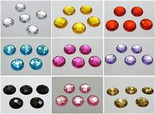 100 Acrylic Flatback Faceted Round Rhinestone Sew on bead 16mm Color For Choice