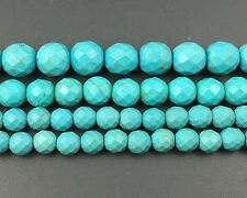Green Turquoise Gemstone Beads Loose Round Faceted Beads 6mm 8mm 10mm 12mm 15''