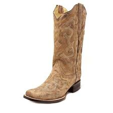 Corral E1042 Women  Square Toe Leather Brown Western Boot