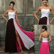 New Chiffon Long Evening Party Prom Gown Formal Wedding Cocktail Celebrity Dress