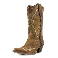 Lucchese Camel   Square Toe Leather  Western Boot