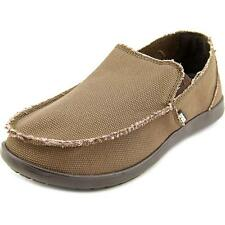 Crocs Santa Cruz  Men  Round Toe Canvas Brown Loafer