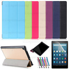 Slim Auto Wake/Sleep Tri-Fold Stand Cover Case For Amazon Fire HD 8 (2016)