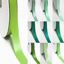 "5 Yards Double Sided Discount Satin Ribbon 3/8"" / 9mm Lime to green"