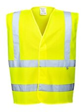 6 Pack - Portwest FR75 Hi-Vis FR Treated Vest Small Yellow