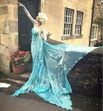 AJ711 Movies Frozen Snow Queen ELSA Cosplay Costume Dress CUSTOM tailor HANDMADE