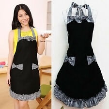 Korean Style Women Princess Apron Kitchen Restaurant Bib Cooking Pockets Aprons#