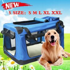 3 SIZE Fabric Soft Pet Crate Cat Dog Cage Carrier House Kennel Foldable Portable