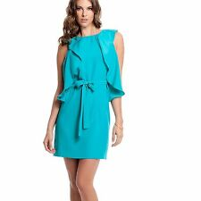 New Guess by Marciano Women's Cammun Sleeveless Ruffle Green Dress Sz XS