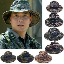 Men's Camo Military Bucket Hat Boonie Hunting Fishing Outdoor Wide Brim Sun Cap