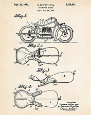 1943 Indian Vintage Motorcycle Saddle Gifts For Motorbike Lovers Patent Posters