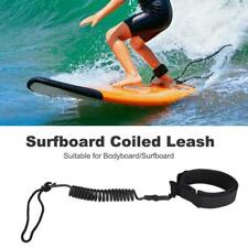 10-12' Surfboard Surf SUP Leash Stand Up Paddle Board Leash Coiled Cord Leg Rope