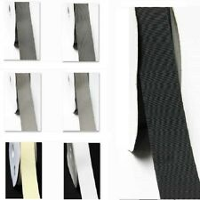"Wholesale 100 Yards / Roll/Spool Grosgrain Ribbon 3/8""/ 9mm white Grey BLack"