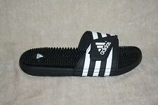 MENS ADIDAS ADISSAGE BLACK AND WHITE SLIDE SANDAL-MULTIPLE SIZES AVAILIBLE (84)