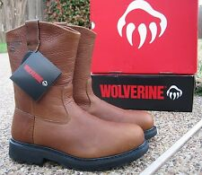"NEW Mens Wolverine ""HERRIN"" All Leather Wellington Work Boots W08377"