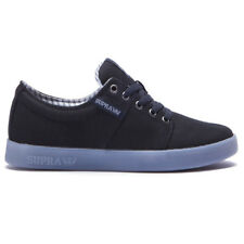 "Supra ""Stacks II"" Shoes (Black-Ice) Men's Canvas Skateboarding Sneakers"