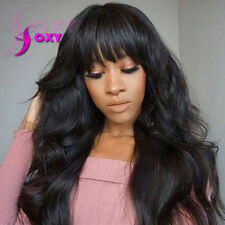 150 Density Wavy Full Lace Wigs Human Hair Glueless Lace Front Wigs With Bangs